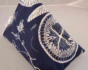 iPhone Stand / Samsung Beanie / Android Pillow / Smart Phone Cushion - Navy/White Bug Design
