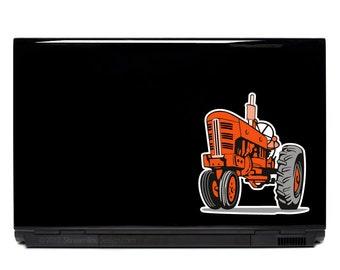 Farm Tractor Laptop Decal | farming farmer macbook sticker yeti table vinyl decal car window kids laptop art tractor sticker vinyl decal