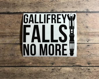 gallifrey falls no more / decal / gallifrey / doctor who / timelord / tardis / time travel / police box / the doctor
