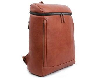 Mens College Backpack Square Laptop School Bag Casual Rucksack 9093