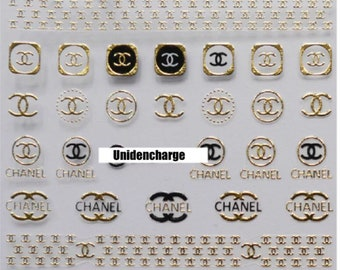 Nail Stickers Brand C Accessory 1 Sheet -Gold