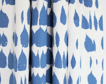 Schumacher Queen of Spain Custom Drapes (Shown in Water Blue - comes in 5 colors)