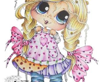INSTANT DOWNLOAD Digital Digi Stamps Big Eye Big Head Dolls NEW Besties img165 My Besties By Sherri Baldy