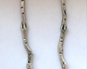 Sterling Silver Twig Dangle Earrings