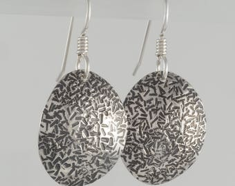 Hand Forged Sterling Silver Earrings