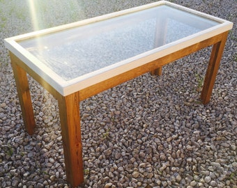 Coffee Table from Upcycled Antique Window