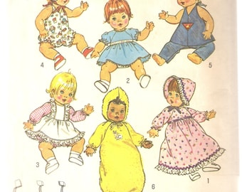 """VINTAGE Simplicity Sewing Pattern 7208 - Doll Clothes for 13""""-14"""" Dolls"""