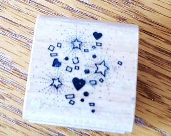Confetti Rubber Stamp from Hero Arts