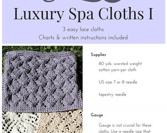 PDF PATTERN ONLY - Luxury Spa Cloths I
