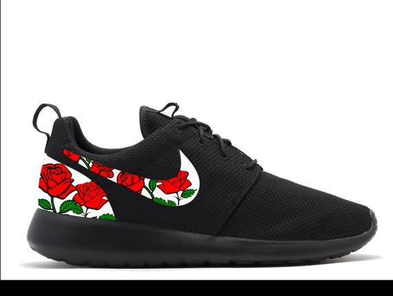 the latest 1eced 74be6 949c5 d84e9  spain 1182d 70508 uk trainers nike roshe run custom black blue tribal  aztec edition oxford new