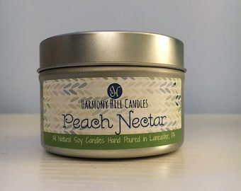 Peach Nectar Scented Soy Candle