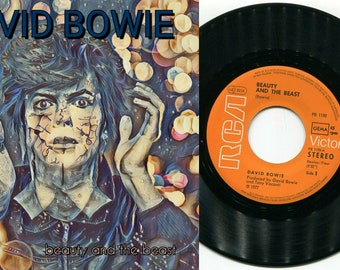 """David Bowie - Beauty and The Beast 7"""" 45 UNIQUE 1 print ONLY art sleeve PRA0015"""