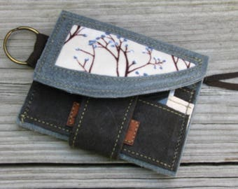 Vegan Minimalist Wallet, Eco-friendly TREE Wallet, Ultra Suede, Wedding Bridesmaid Gifts, Business Gifts