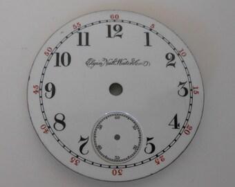 Elgin Pocket Watch Porcelain Dial Original 46MM(34)