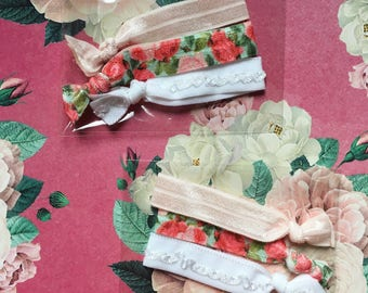 The Shabby Chic Floral Hair Ties