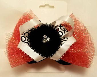 Valentines Day stacked boutique bow