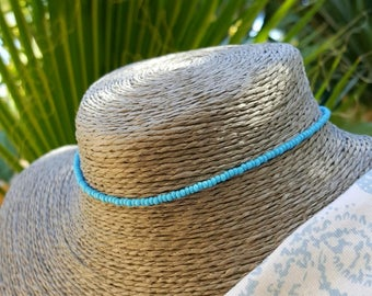 turquoise choker necklace beach aqua boho surfing vacation wear