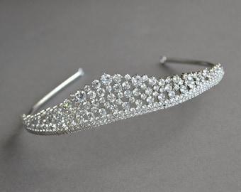 Princess Bridal Tiara, Swarovski Bridal headpiece, Crystal Wedding Tiara