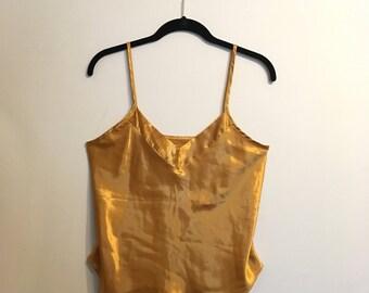 Reflective Golden Satin Camisole