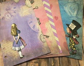 Alice in Wonderland Theme Planner Dividers/ KikkiK, Happy Planner, Filofax Planner Accessories