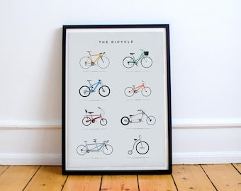 The Bicycle - Digital Art Illustrated in the UK