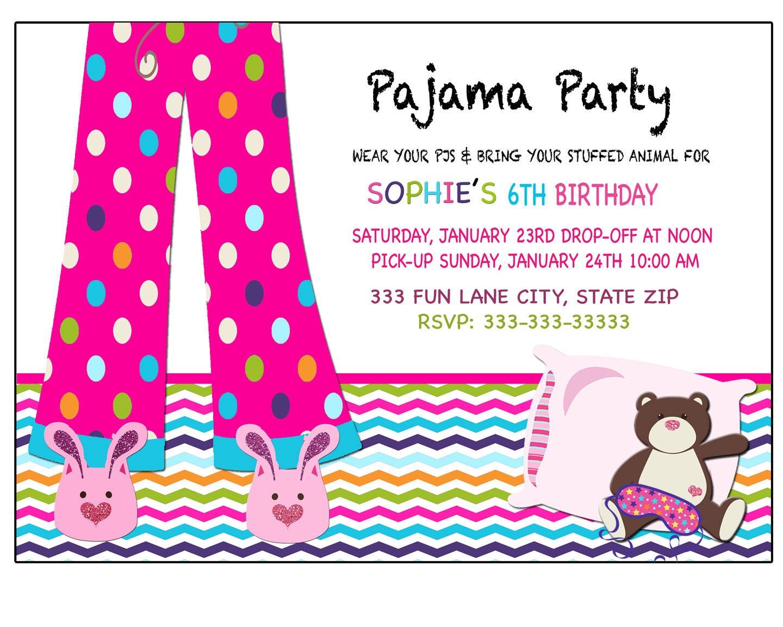 Sleepover invitation pajama party invitation sleepover zoom monicamarmolfo Image collections