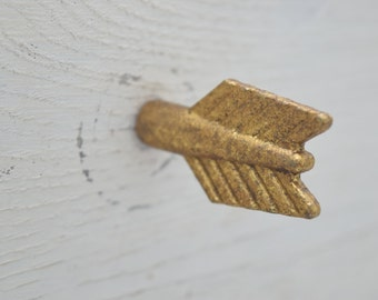 Gold Arrow Drawer Knobs, Drawer Pull, Cabinet Pull, Cabinet Knobs