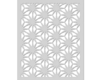 Hero Arts: SA073 Asian Flower Pattern Stencil, Accessories, Wild Things, Spring Collection, Scrapbooking, Cardmaking, Papercrafting