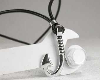 Men Necklace - Men Choker Necklace - Men Leather Necklace - Men Jewelry - Men Gift - Boyfriend Gift - Husband Gift - Present For Men - Male