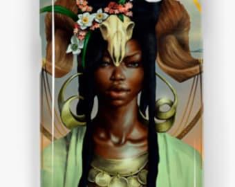 Aries Samsung Galaxy Phone Case African American Zodiac Goddess Black Girl Magic  Afrofuturism