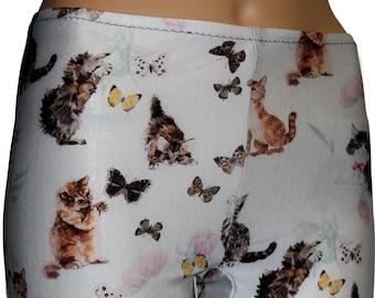 Cats and Butterflies Leggings, Printed Leggings, Printed Leggings, Yoga Pants, Running Pants, Animal Print Leggings