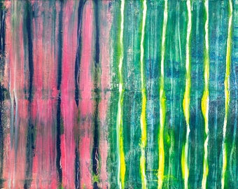 "Original Abstract Painting Oil on Canvas, Size 36"" x 72"", Title: Endless Possibilities"