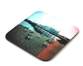 Wooden Coaster, Brighton Pier Coaster, Photo Coaster, Handmade