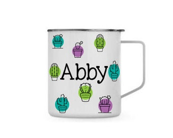 Cactus All Around with Name - Personalized 14 0z. Travel Townie Mug with  Lid, Stainless Steel