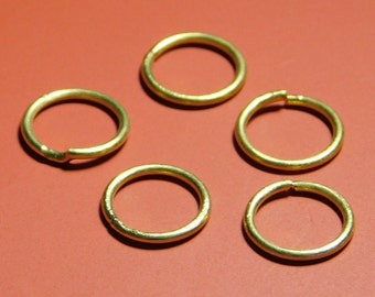 925 Silver gold plated jump rings - 10PC-SET - 9mm-STK-47-SLVR-57