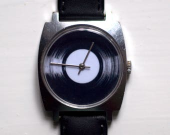 "Soviet watch""Pobeda"", Mens watch, Russian watch ,minimalist watch, watch men ,minimal watch ,classic watch , vinyl watch"