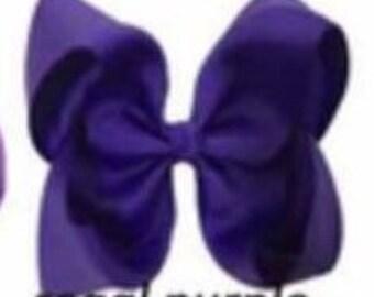 Regal Purple Hair Bow