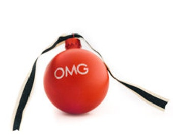 OMG Hand Painted Glass Ornament
