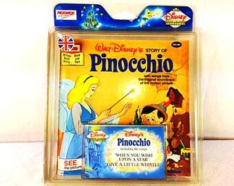 Walt Disney's Pinocchio Read Along Book with Cassette