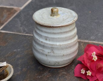 Handmade Ceramic Jar with Lid, Ceramic Lidded Jar, Storage Container, Storage Jar