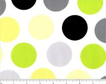 06471 VIP - Spring Fling large dots in citron -  1/2 yard