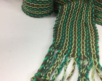 The Field -Traditional Irish Handwoven scarf or sash