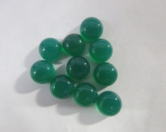 10 pcs lot NATURAL GREEN ONYX round cabochon 8x8 mm Gemstone...