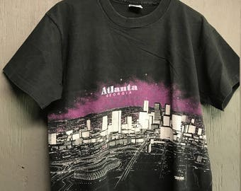 L vintage 80s 1989 Atlanta Georgia tourist t shirt
