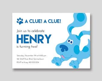Blue's Clues Birthday Invitation - Custom DIY Printable