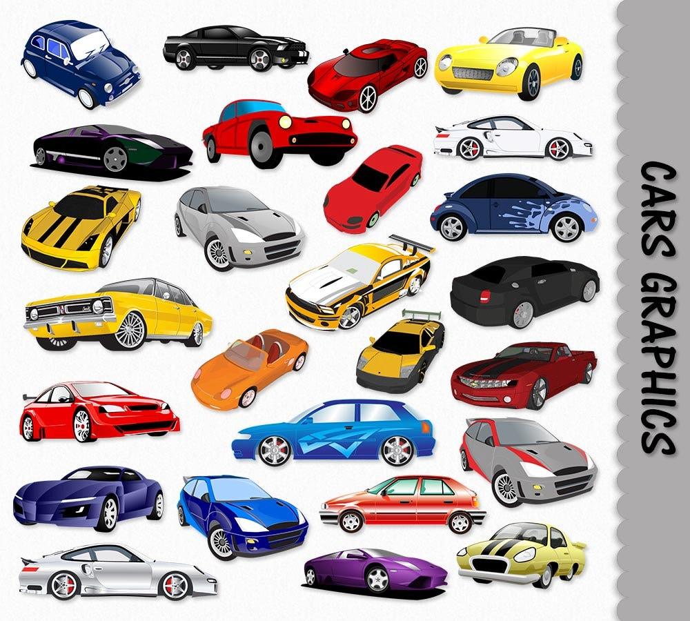Cars Clip Art Graphics Car Clipart Scrapbook Vehicles
