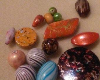 1 oz mixed lot of acrylic beads, bead destash, bead soup, assorted acrylic beads, DIY Crafts, quality acrylic beads