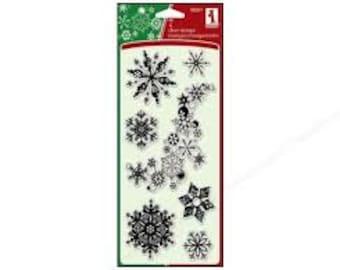 Inkadinkado SNOWFLAKES A-PLENTY Clear Acrylic Stamp Set