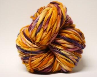 Merino Handspun Wool Yarn Thick and Thin Slub tts(tm) Hand dyed Half-Pounder xLR 1604x