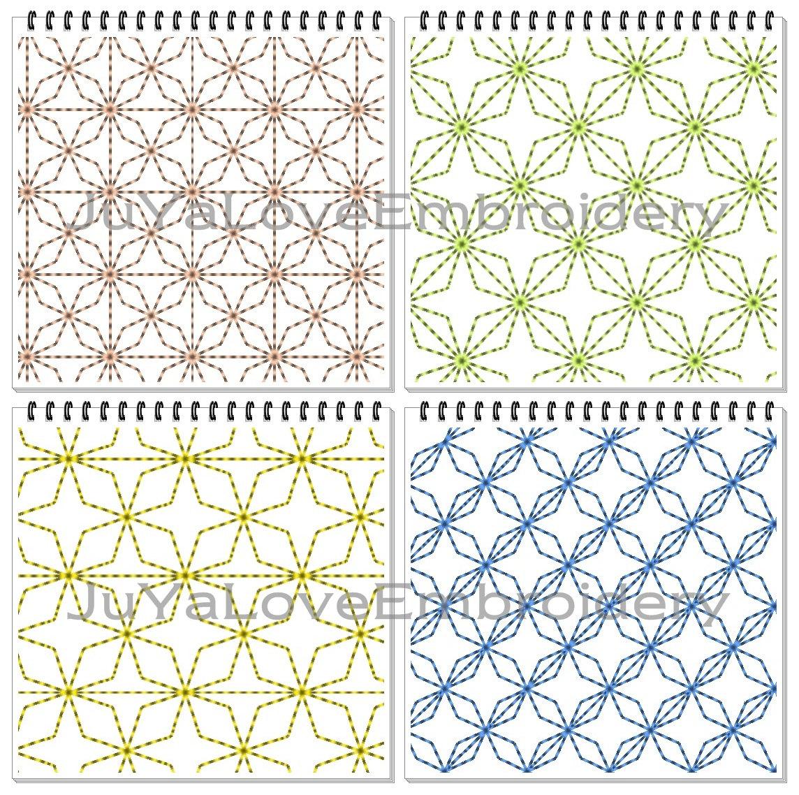 Sashiko Patterns Quilt blocks Quilting Four patterns : stippling quilt - Adamdwight.com